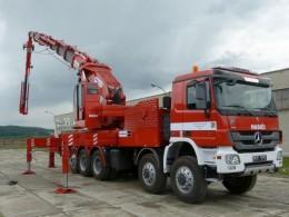 Hydraulické ruky a hasičská auta