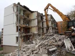 Hydraulické jeřáby pro demolice