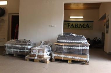 Drapáky, vkládací lžíce FARMA a hydraulické rotátory Baltrotors