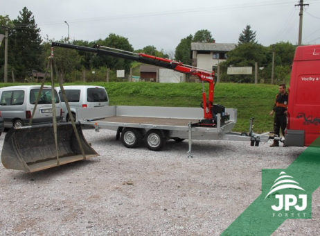 Hydraulická ruka Maxilift ML 110 a nákladní přívěs Agados