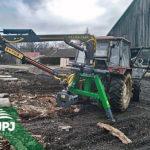 Hydraulická ruka na traktor